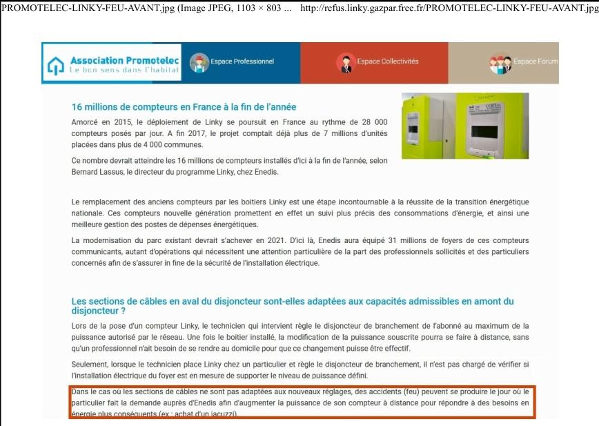 L'association Promotolec évoque les risques d'embrasement dans une note où elle conseille de faire appel à un électricien qualifié.